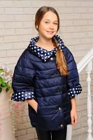 Куртка для дівчинки двостороння, фото 1