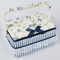"""Шкатулка для рукоделия """"Весна в Париже Classic Blue"""", 21.5x16x10.5см"""