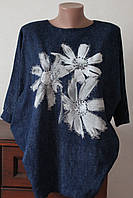 Блузка кимоно цветок