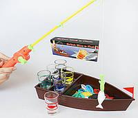 """Игра настольная для взрослых """"Алкогольная рыбалка"""" 41x9x16.7см (в наборе 6 стопок)"""