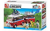 """Конструктор Sluban """"Микроавтобус с прицепом"""" M38-B0566, 324 дет, фото 1"""