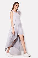 Женское вискозное платье асимметричной длины (Jes crd)