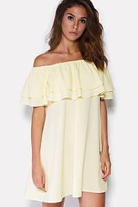 Женское летнее платье с двойным воланом на плечах (Jelli crd)