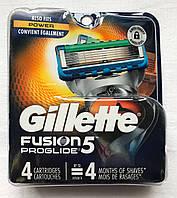 Gillette Fusion 5 Proglide лезвия из США x4