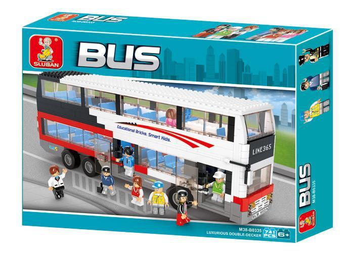 """Конструктор SLUBAN  """"Двухэтажный автобус"""" 741 дет, M38-B0335"""
