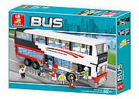 """Конструктор SLUBAN  """"Двухэтажный автобус"""" 741 дет, M38-B0335, фото 1"""