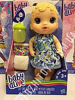 Кукла BABY ALIVE LIL' SIPS BABY - BLONDE SCULPTED HAIR оригинал Hasbro США Беби Элив - пьет, писает