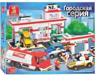 """Конструктор Sluban M38-B2900 """"Автосервис"""" 727 деталей"""
