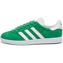 Кросівки чоловічі Adidas Gazelle (зелені-білі) Top replic