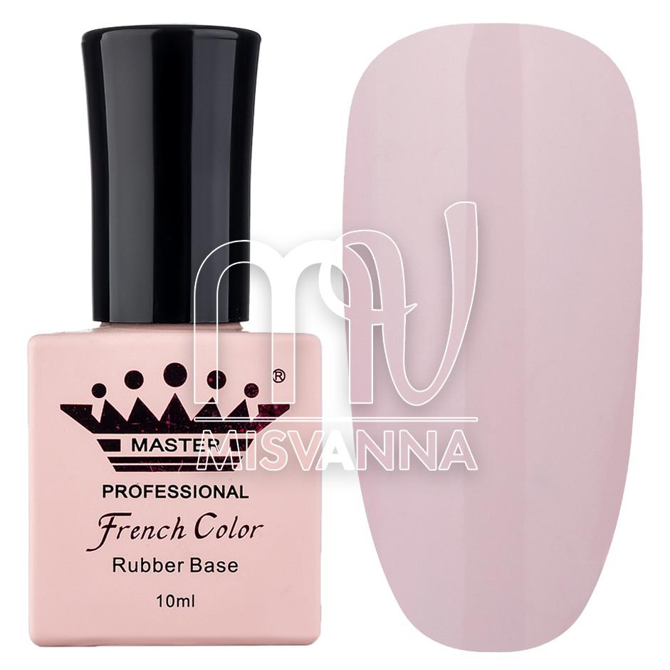 База (каучуковая) для гель-лака Master Professional French №11 (полупрозрачный розовый), 10 мл