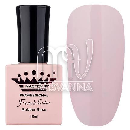 База (каучуковая) для гель-лака Master Professional French №11 (полупрозрачный розовый), 10 мл, фото 2