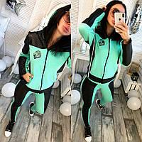 Спортивный костюм с кожаными вставками 3 цвета 42 44 46