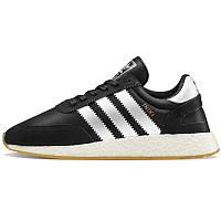 Кроссовки мужские Adidas Iniki Runner (черные-белые) Top replic