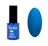 Гель лак Tertio №78, 10 мл ярко-синий с блестками