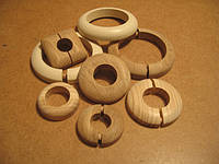 Деревянные накладки на трубы. Деревянные розетки для труб