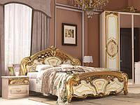 Ліжко з ДСП/МДФ в спальню Реджина Голд 1,8х2,0 підйомне з каркасом Миро-Марк