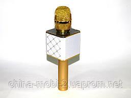 Микрофон с функцией Караоке Q7 StreetGo Bluetooth Karaoke USB AUX MP3 Player, gold, фото 3
