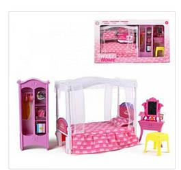 Мебель для кукол 25398 B трюмо+кровать+шкаф , Размеры: 55 х 31 х 10см