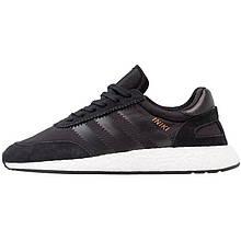 Кросівки чоловічі Adidas Iniki Runner (чорні-білі) Top replic