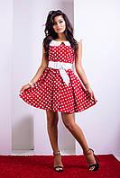Винтажное платье в горох Adriana 42–50р. в расцветках