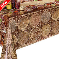 Клеенка столова на флизелиновой основе с необычным и стильным принтом. Новинка!!!