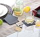Набор из 4 шт. 9,3 х 9,3 Сланцевые костер, бирдекели, подстаканник, бирматы , фото 2