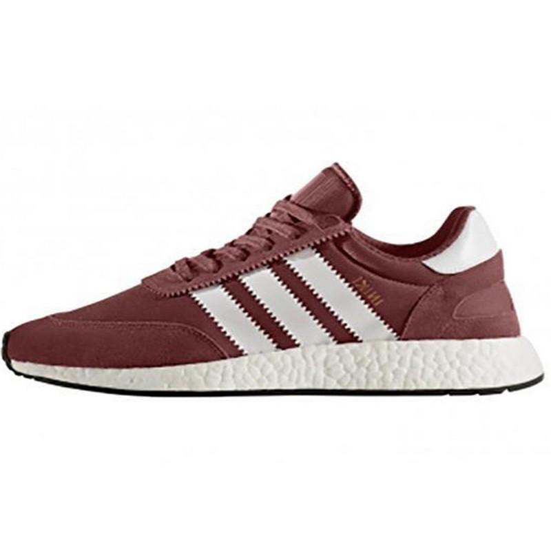 Кроссовки мужские Adidas Iniki (бордовые-белые) Top replic