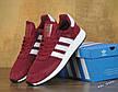 Кроссовки мужские Adidas Iniki (бордовые-белые) Top replic, фото 3
