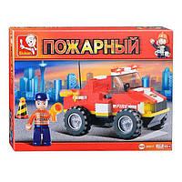 """Конструктор SLUBAN """" Маленький спасательный грузовик - Пожарные спасатели"""" 118 деталей арт. M38-B0217, фото 1"""