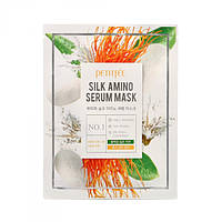 Маска для лица с протеинами шелка PETITFEE Silk Amino Serum Mask, 30г х 5шт.