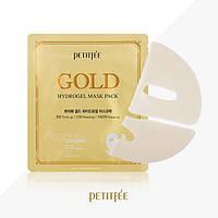 Гидрогелевая маска для лица с золотомым комплексом+5 PETITFEE Gold Hydrogel Mask Pack+5golden complex,2штх32г