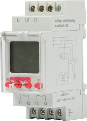 Реле контроля напряжения трехфазное цифровое e.control.v06 (p0690011)