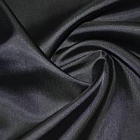 Подкладочная ткань вискоза тканьподкладка черная в мелкий рубчик, ш.140