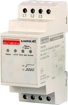 Реле контроля напряжения трехфазное нерегулируемое e.control.v03 (p0690008)
