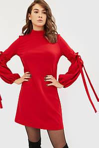 Креп-трикотажное платье с декоративными рукавами (Lokka crd)