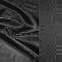 Подкладочная ткань Вискоза подкладка черная полоски