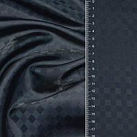 Подкладочная ткань вискоза тканьподкладка т/синяя шахматка ш.144