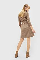 Женское вельветовое платье бежевого цвета (Neiri crd), фото 2