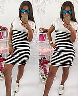 Классное женское платье в полоску из вискозы