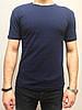 Мужская однотонная футболка темно-синего цвета