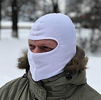 Балаклава флисовая зимняя (белая)