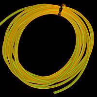Светодиодный неон гибкий Желтый Premium Slim 12В