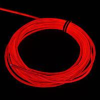 Светодиодный неон гибкий Красный Premium Slim 12В