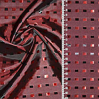 Подкладочная ткань вискоза подкладка Жаккард темно красная