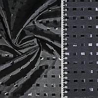 Подкладочная ткань вискоза подкладка Жаккард темно серая в