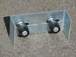 6.Швеллер ограничительный с двумя направляющими роликами диаметр 32мм.