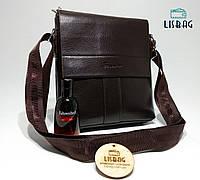 Мужская сумка кожа pu fashion темно коричневая 21*23*4, фото 1
