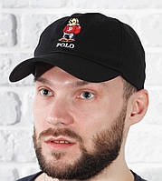 Бейсболка кепка черная весенняя летняя Polo , фото 1