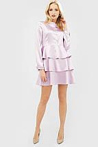 Атласное лиловое платье с многослойной юбкой (Deris crd), фото 3