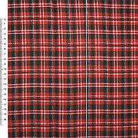 Байка фланель байковая ткань для пеленок детская фланелевая в красная черную белую клетку ш.105